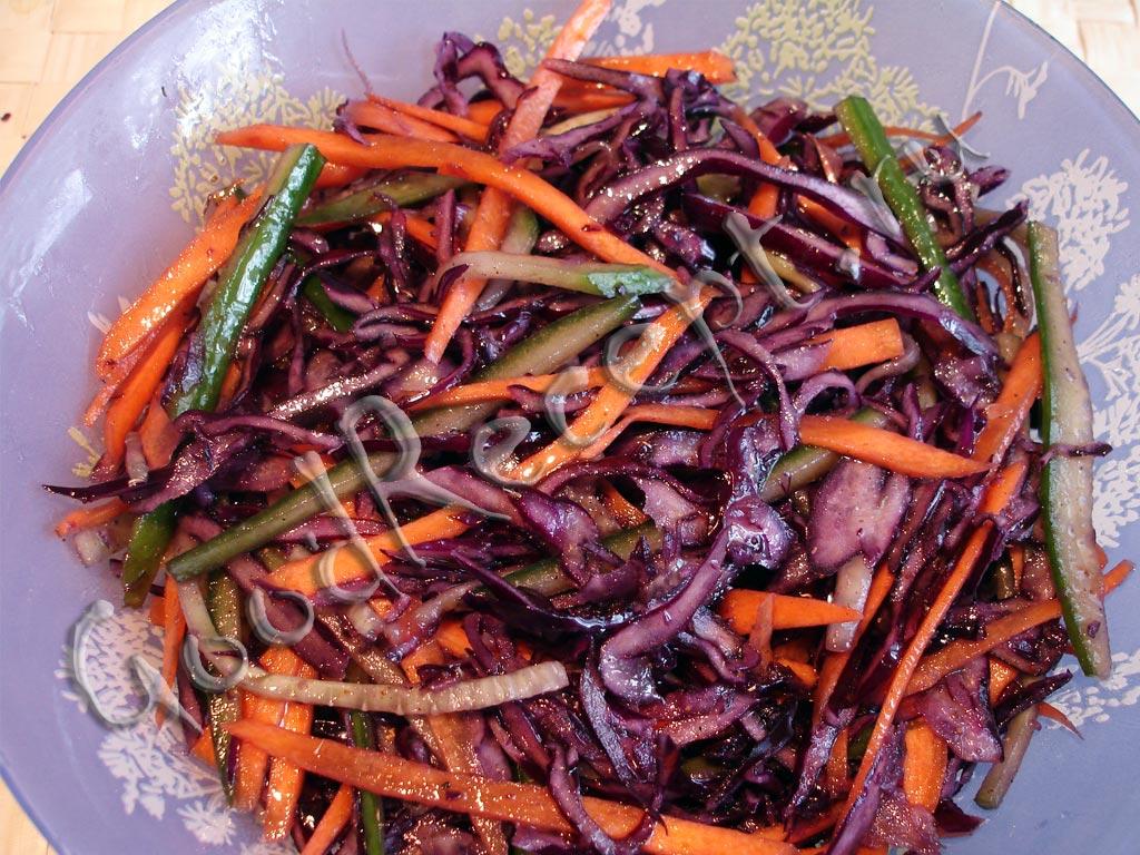салат из красной капусты на зиму рецепты с фото