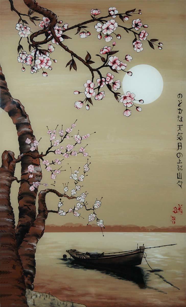 документов рисунок в японском стиле сакура может