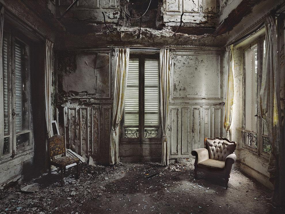картинки заброшенного дома внутри белоснежные кошки чаще