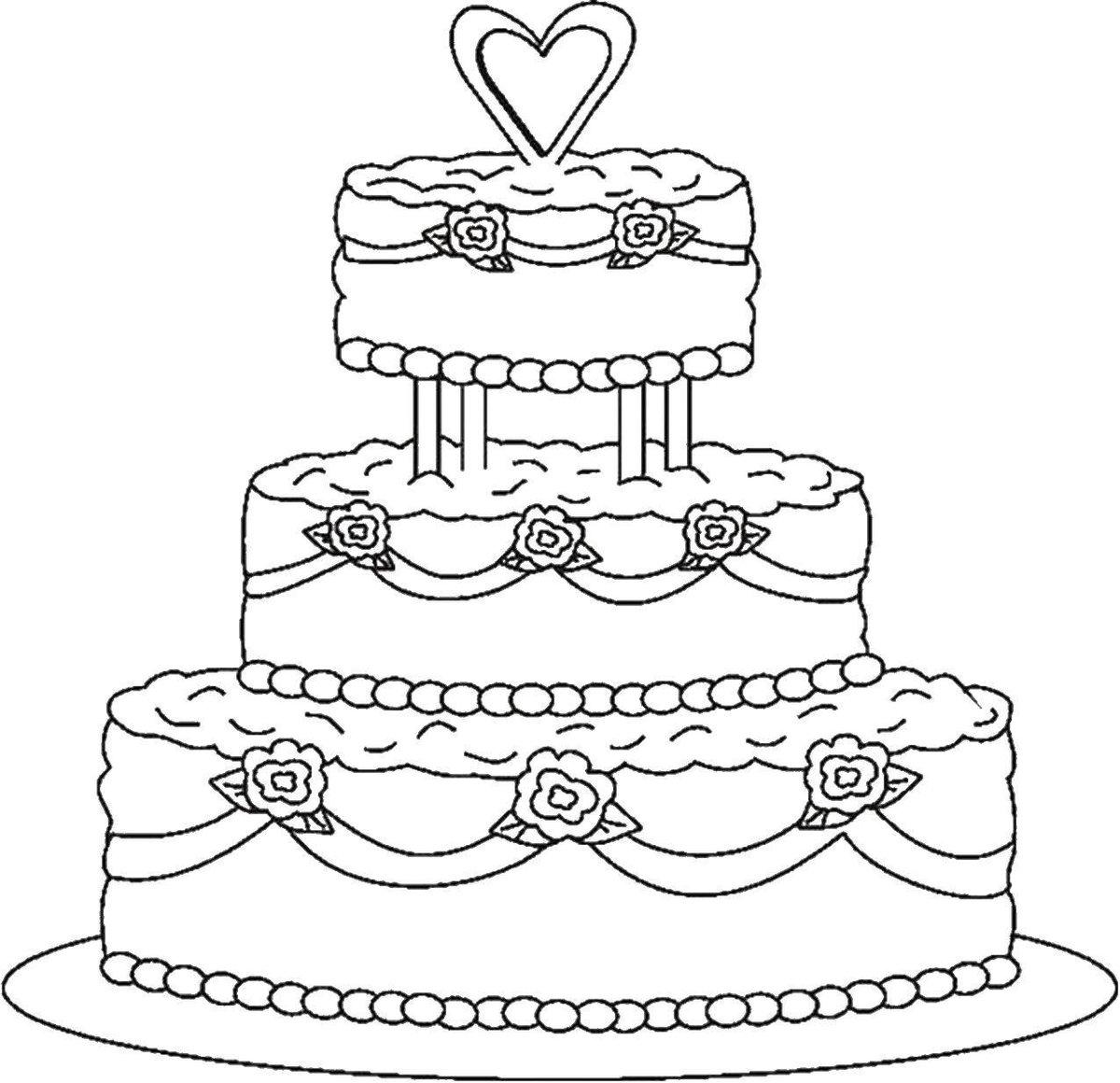 Люська, раскраски торты распечатать