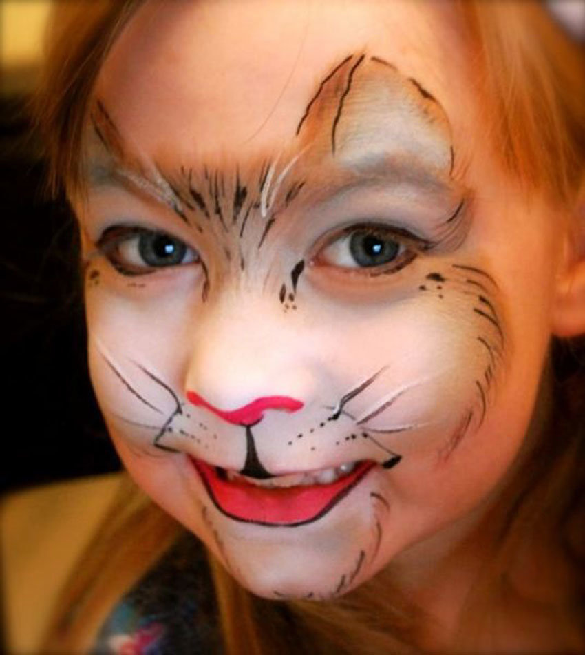 face painting cat - 536×600