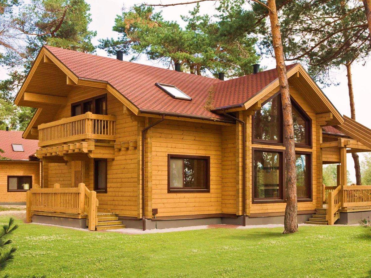 Картинки цвет деревянные дома
