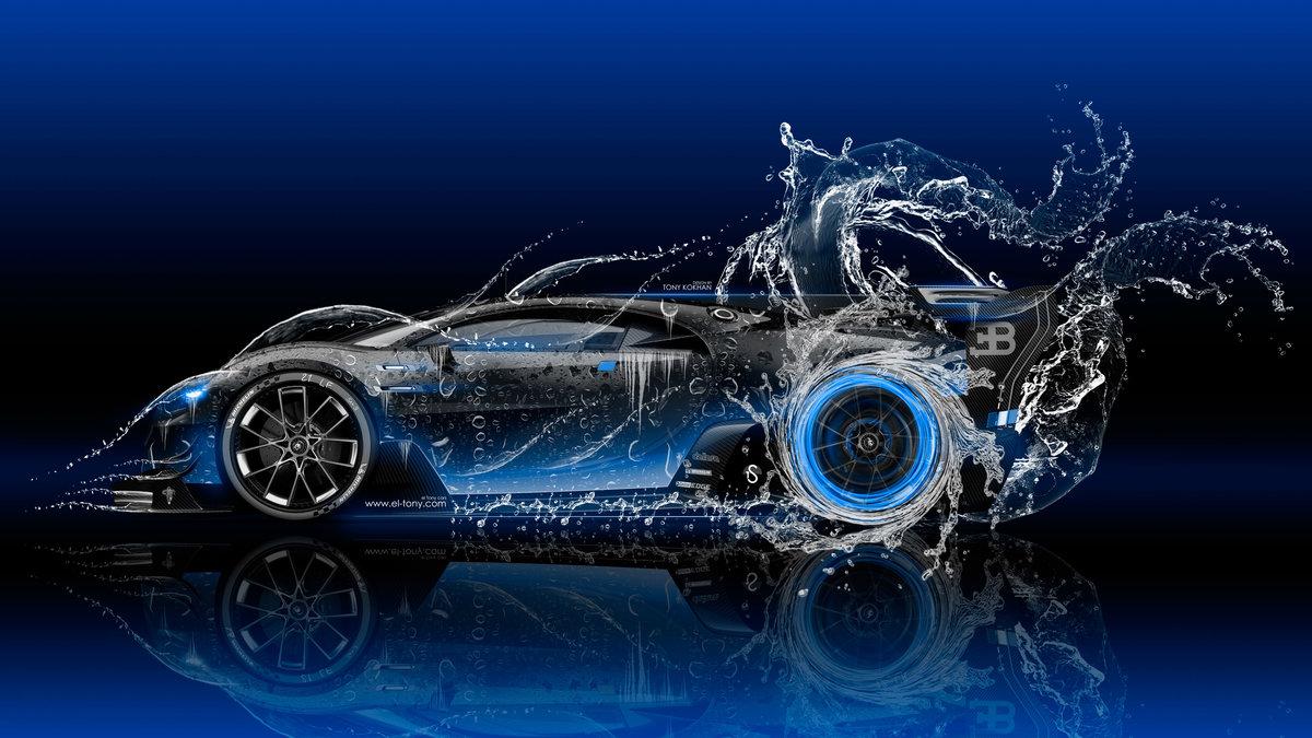 Bugatti Vision Gran Turismo Side Super Water Car