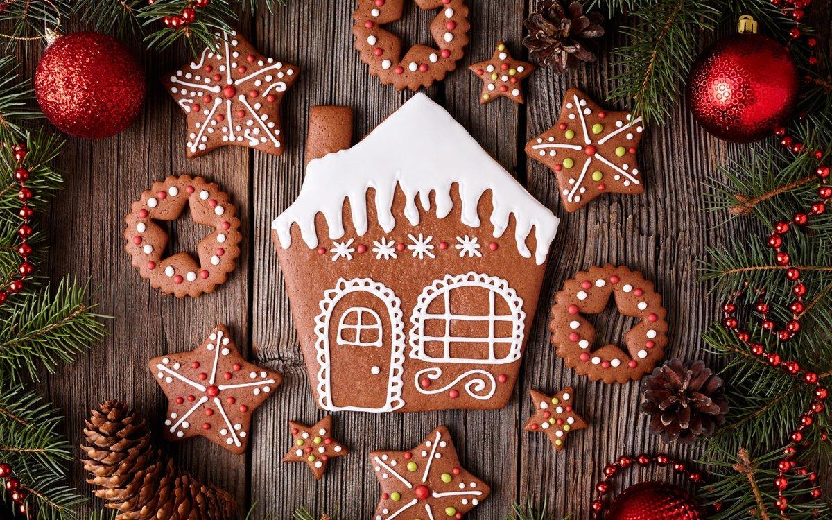 С Рождеством Христовым, Печенье, Десерт, Новый год