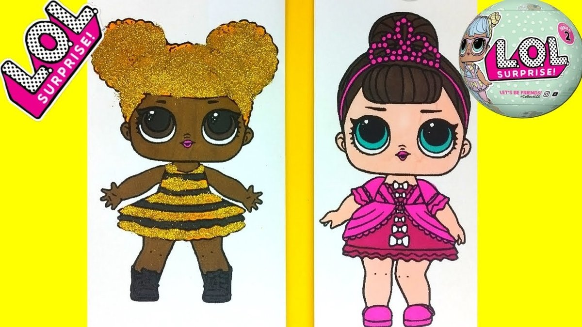 Lol Surprise Doll Coloring Page Queen Bee Fancy Coloring C Card