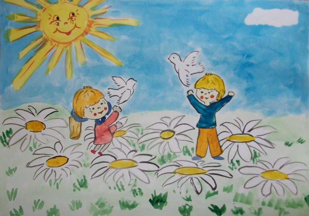 Картинки про детство для детей, своими