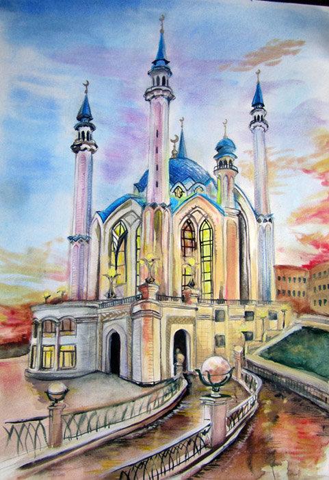 Казань рисунки и наброски города