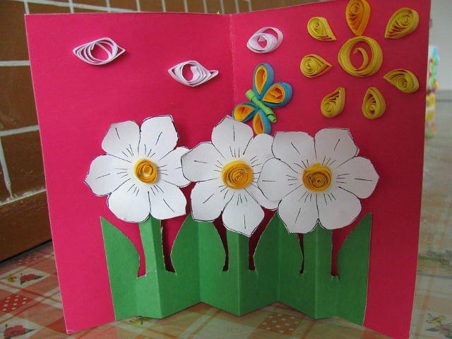 Анимационные открытки, открытка для мамы своими руками на 8 марта старшая группа