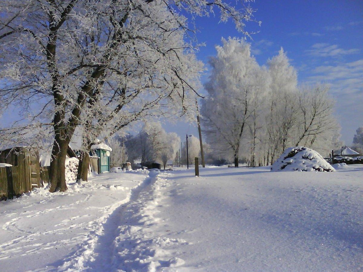 фотографии зимних улиц пока могут