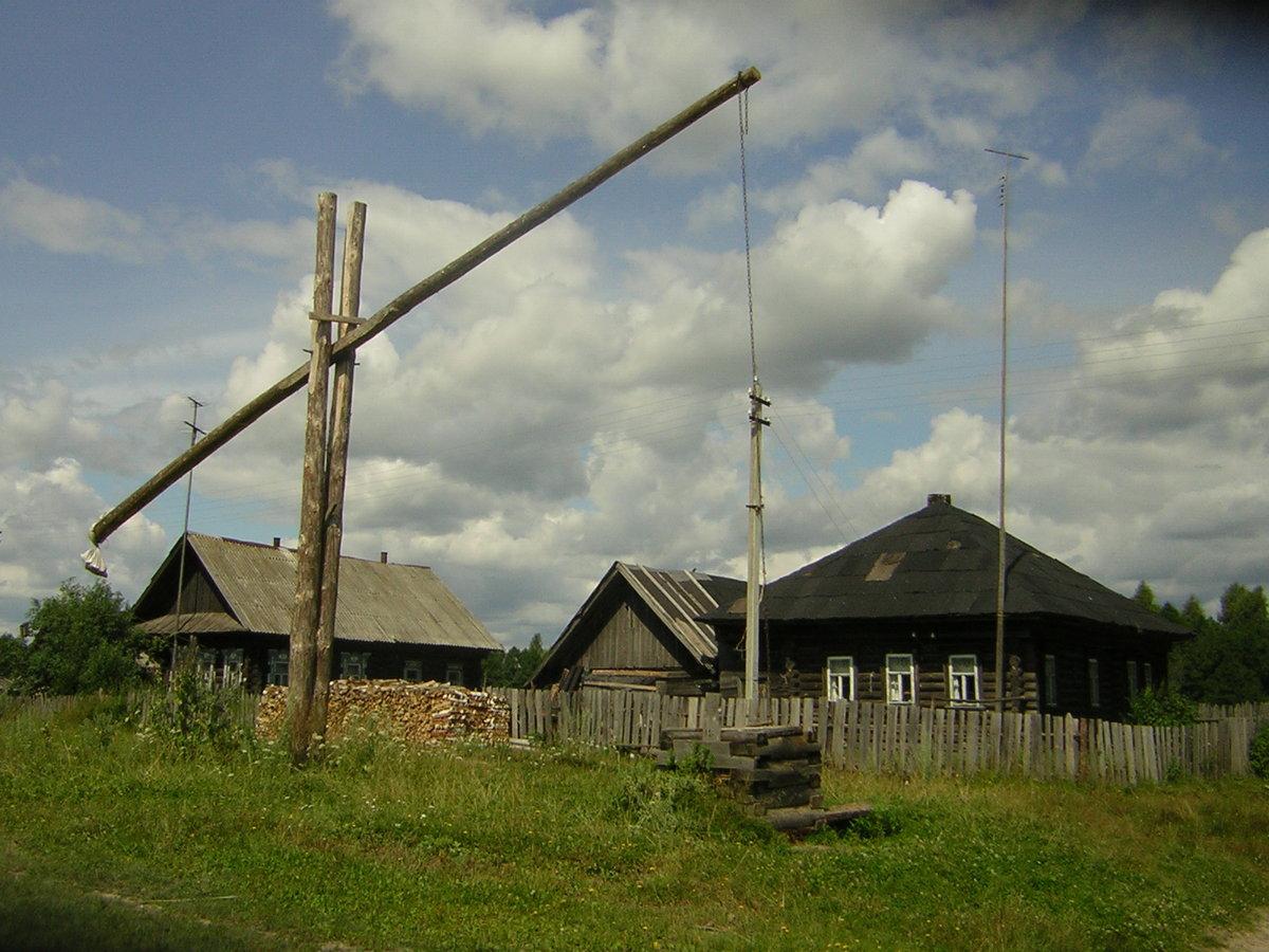 натурального картинка в деревне у колодца высокий журавль целей