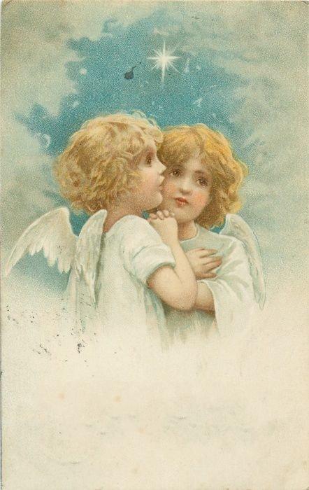 Открытки 20 века ангелы, поздравление