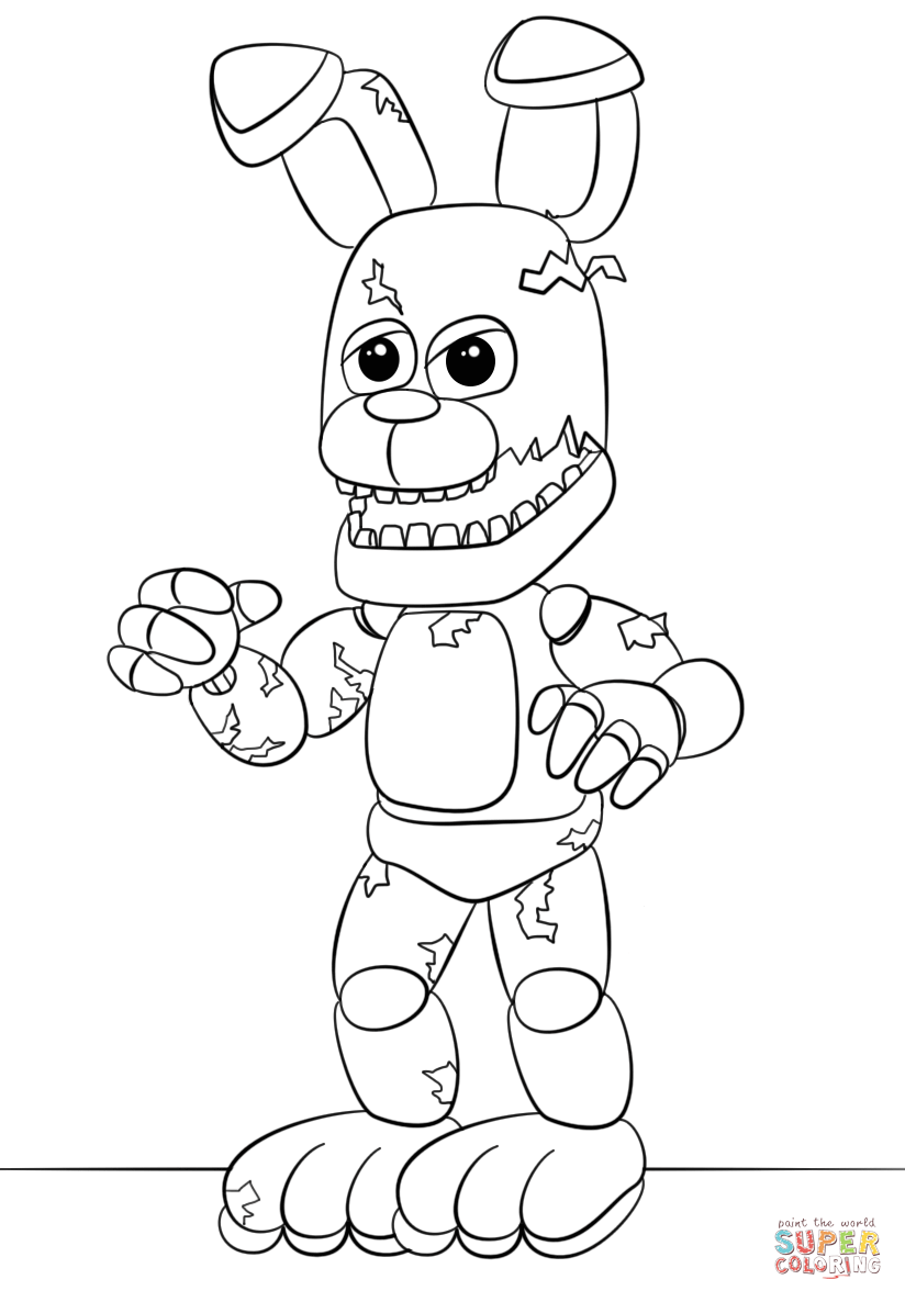 Line Art Karawaci : «fnaf springtrap coloring pages printable — карточка