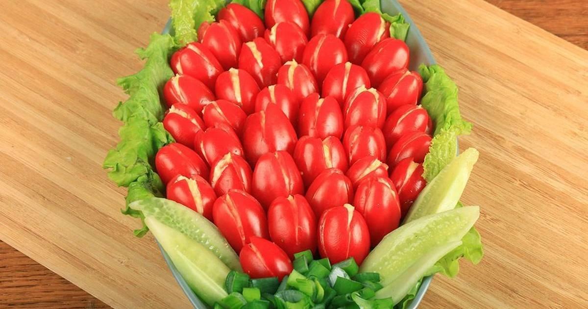 через салат тюльпаны фото рецепт хотел знать
