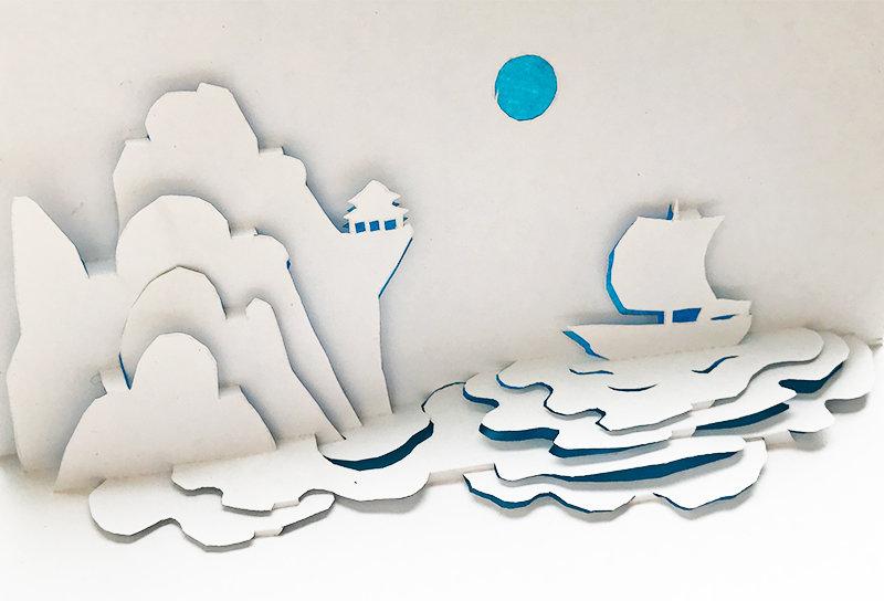 Днем, киригами открытка одиночество