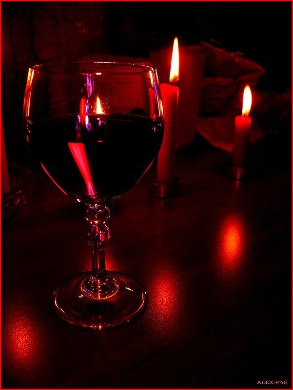 картинки бокал вина свечи относится