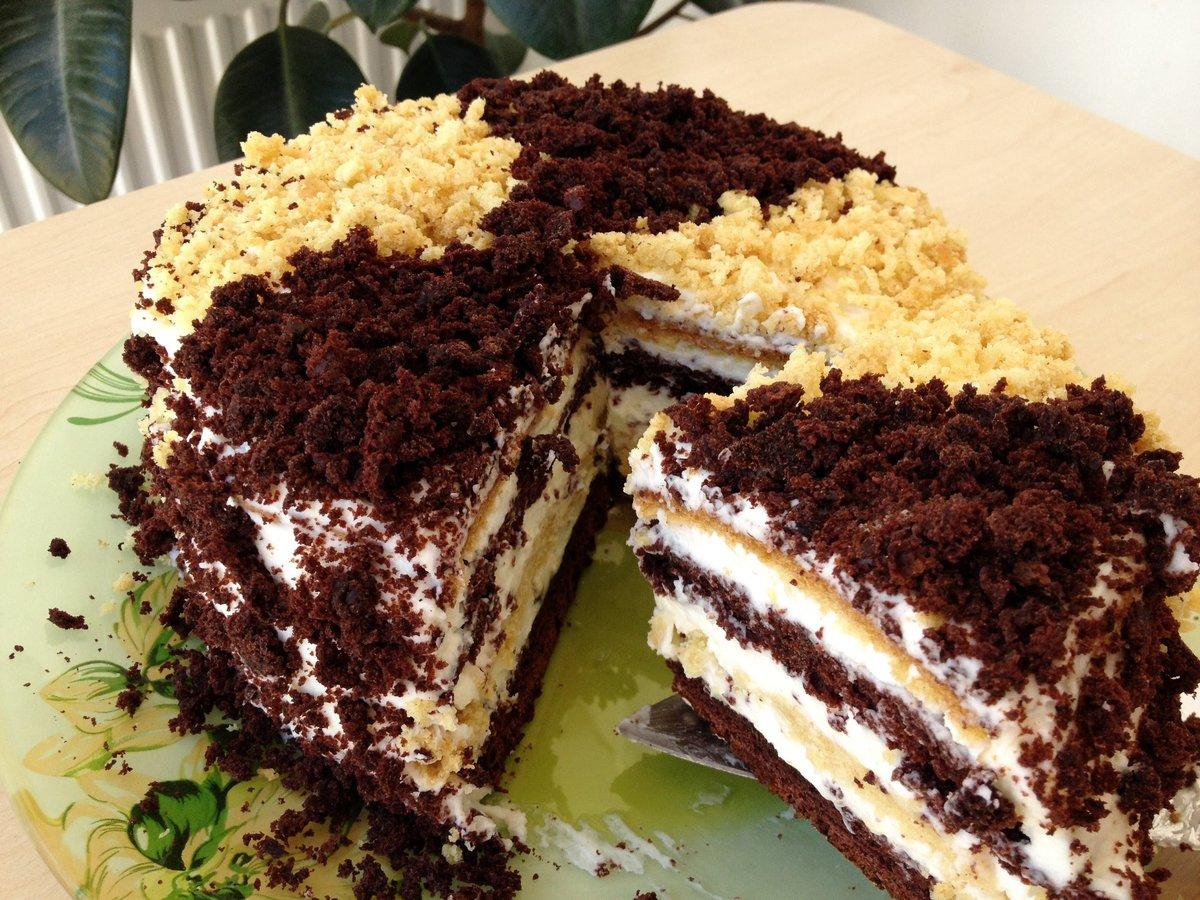 Торт сметанковый пошаговый рецепт с фото