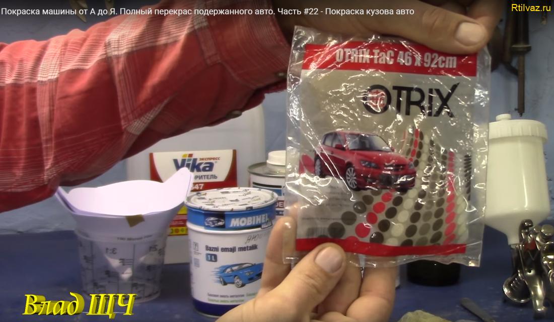 Липкая салфетка из марли для очистки поверхности деталей от пыли и снятия статики
