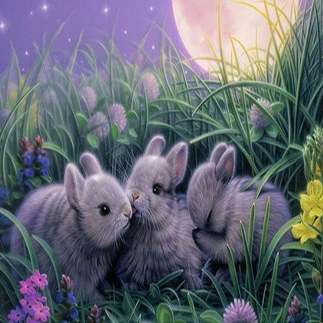Картинки с зайчатами для детей, открытка дочке