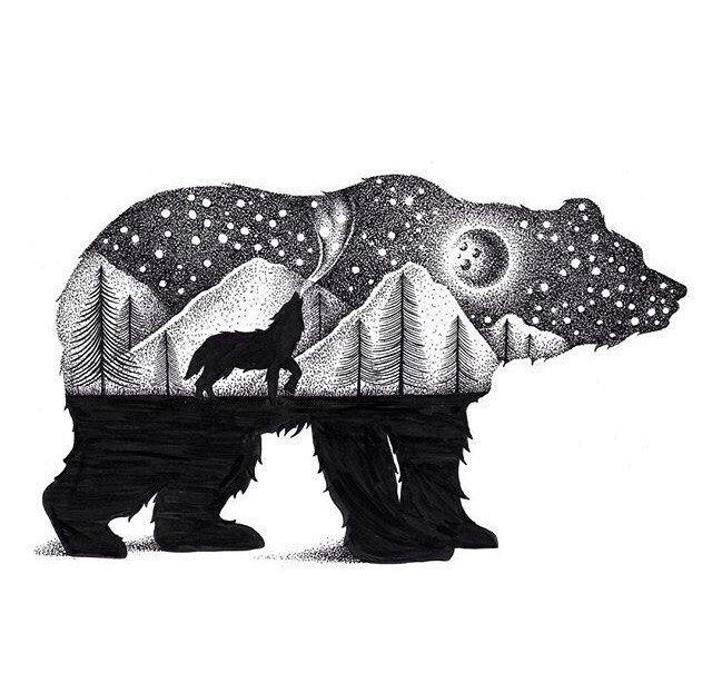дело медведь стилистика картинки потолок постельное
