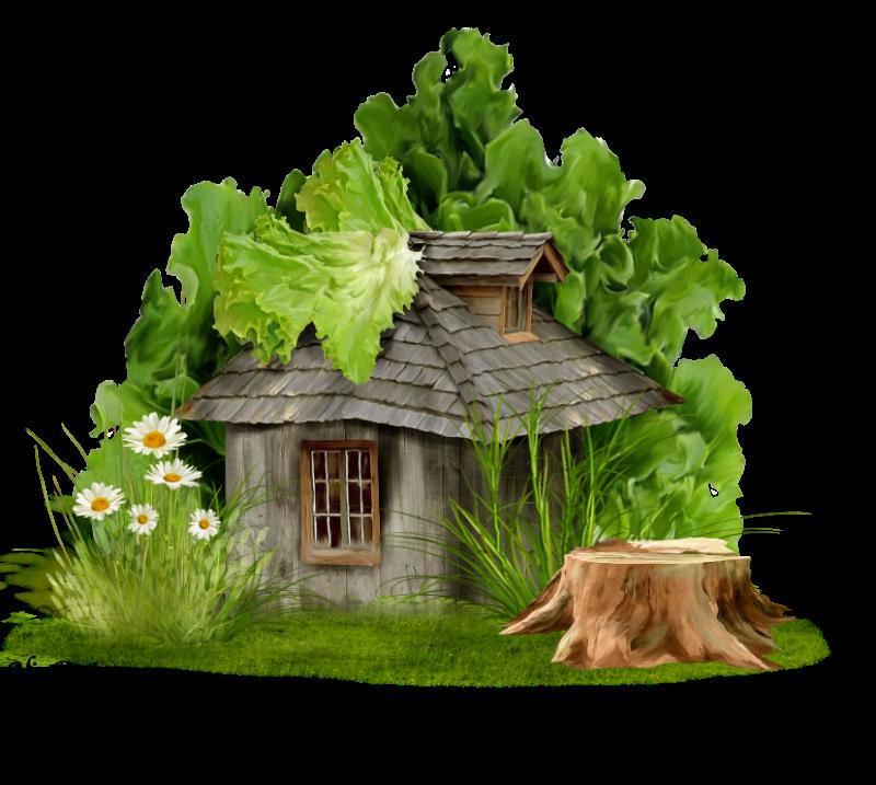 Лес с избушкой картинка для детей