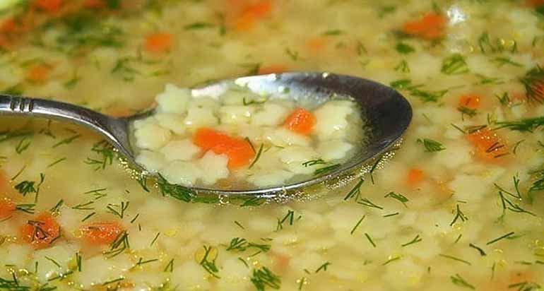 Простой и вкусный суп на обед