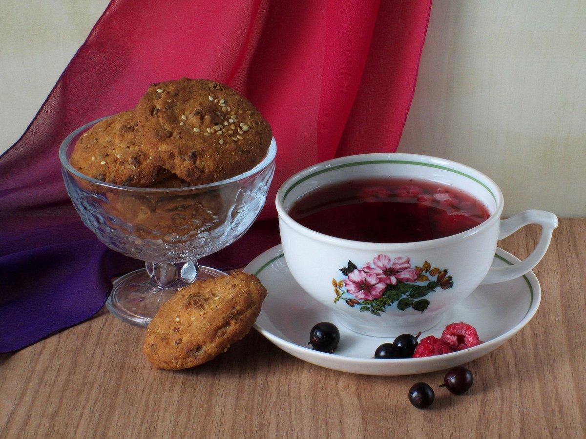 картинки печенек с чаем