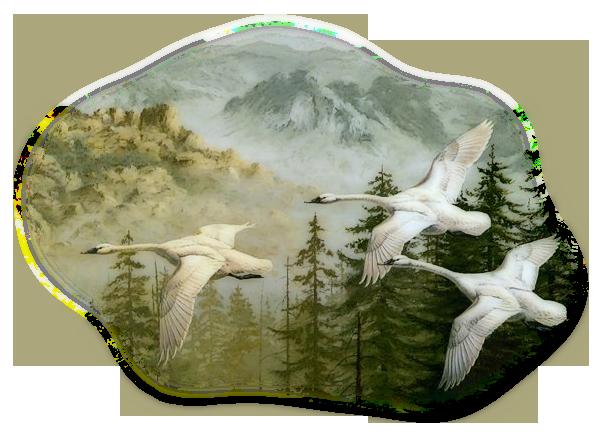 Веселые про, картинка летящий лебедь анимация