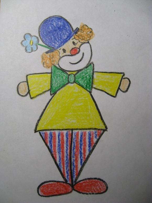 Рисунок клоуна для детей карандашом