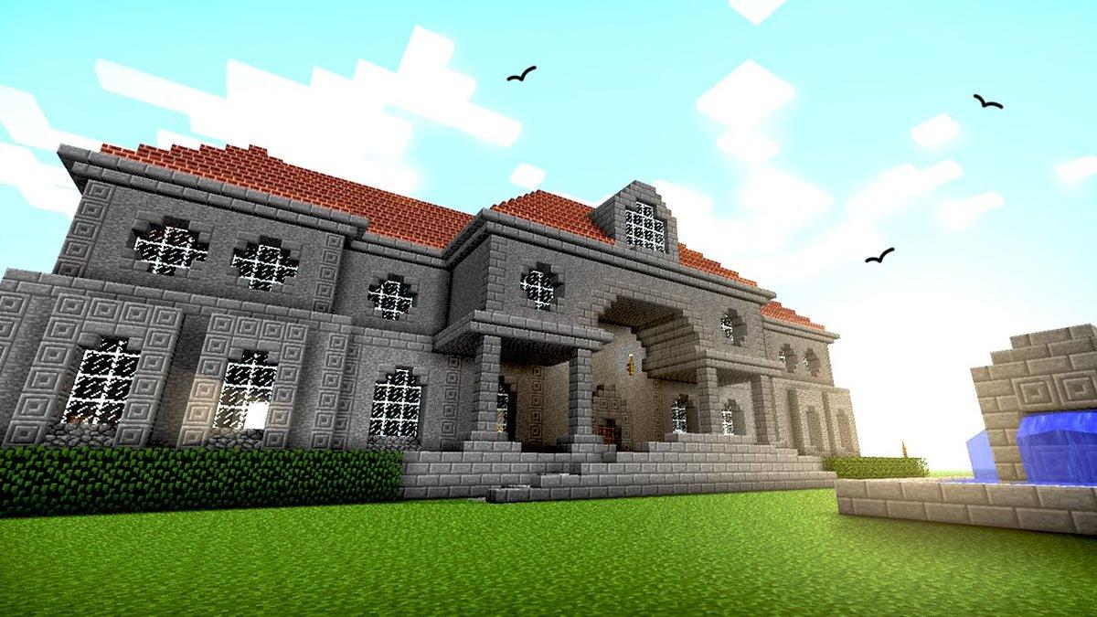 Огромные дома в майнкрафте фото