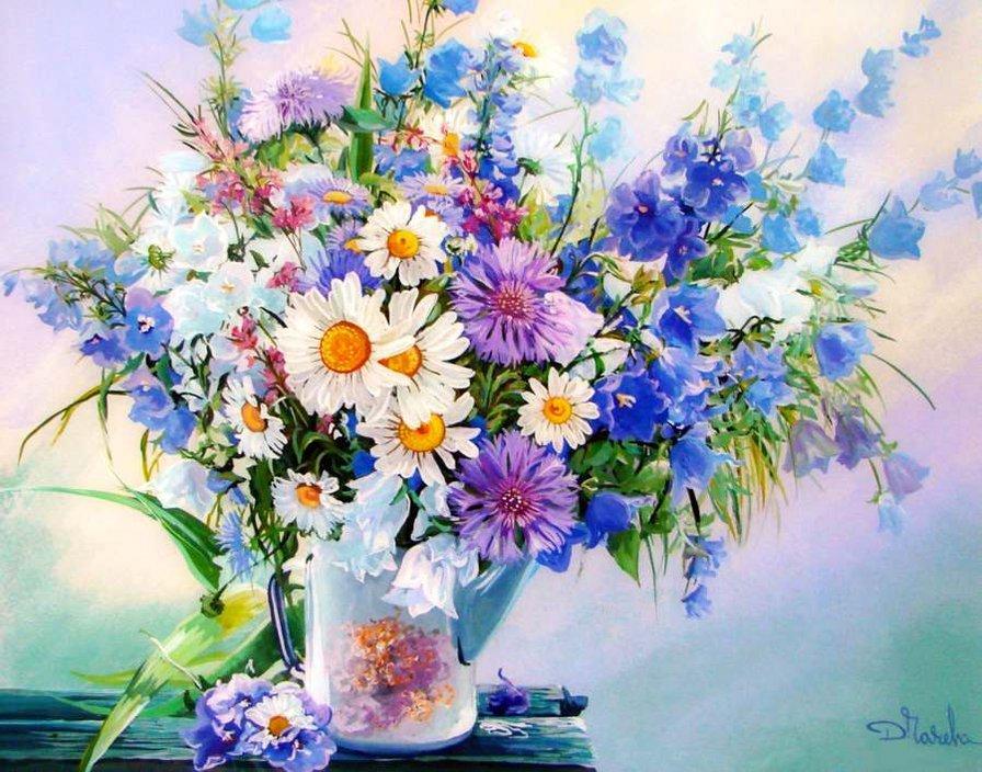 Открытки с букетами полевых цветов красивые