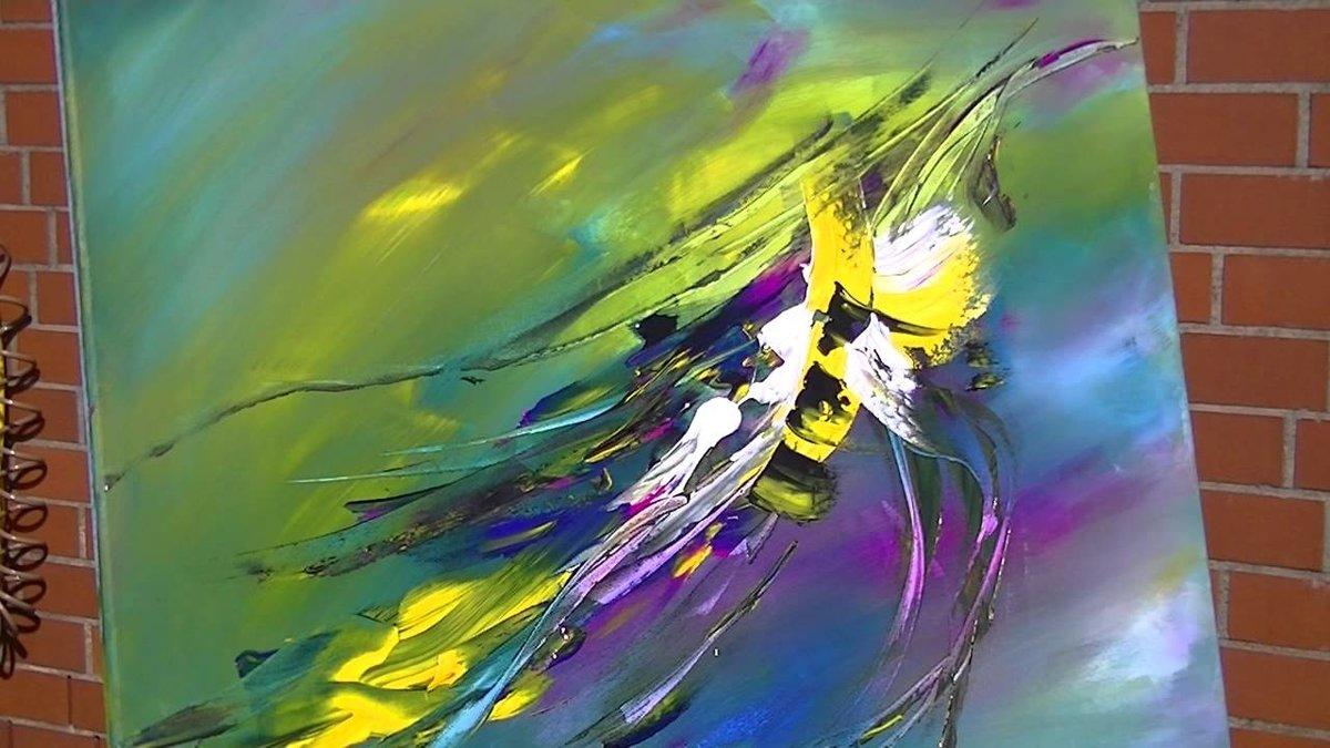 постер акриловыми красками техника нанесения