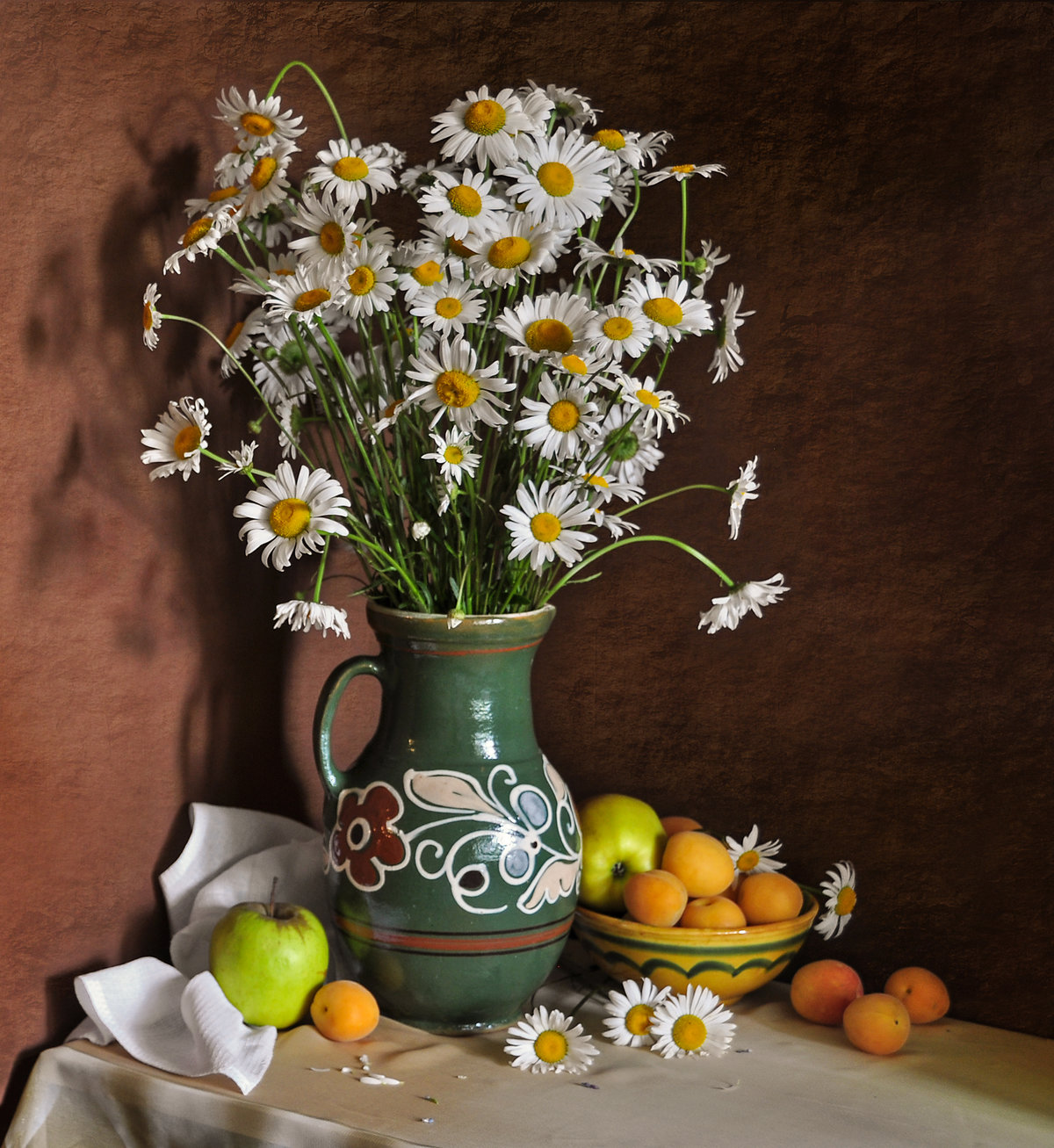 Картинки букет ромашек в вазе