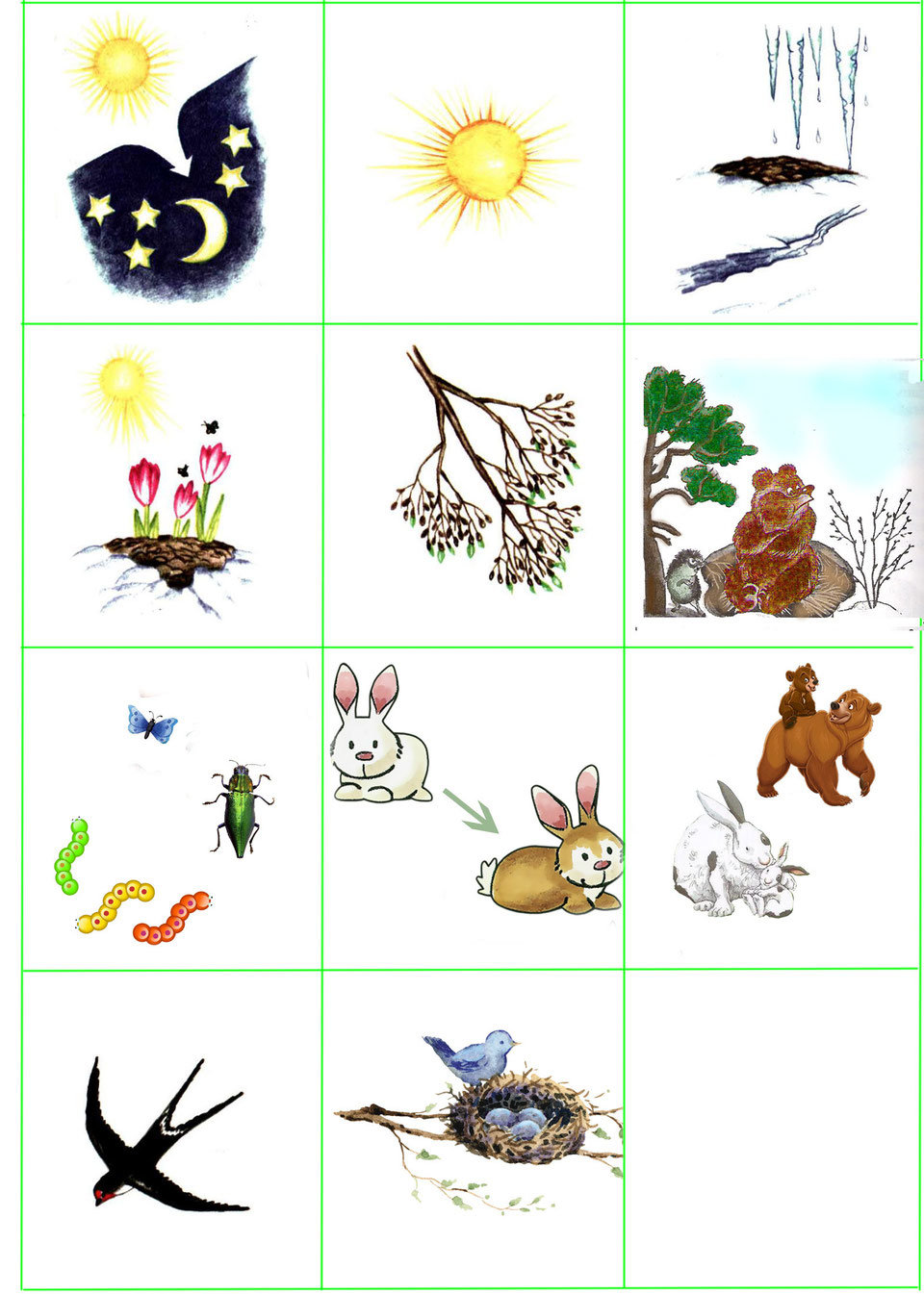 Картинки с признаками весны для детей