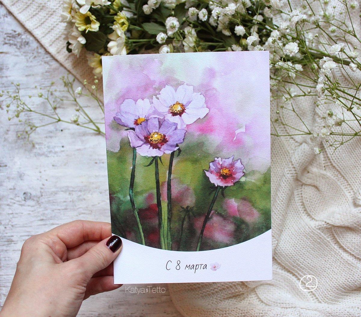 Аистом, открытки на 8 марта своими руками нарисованные акварелью