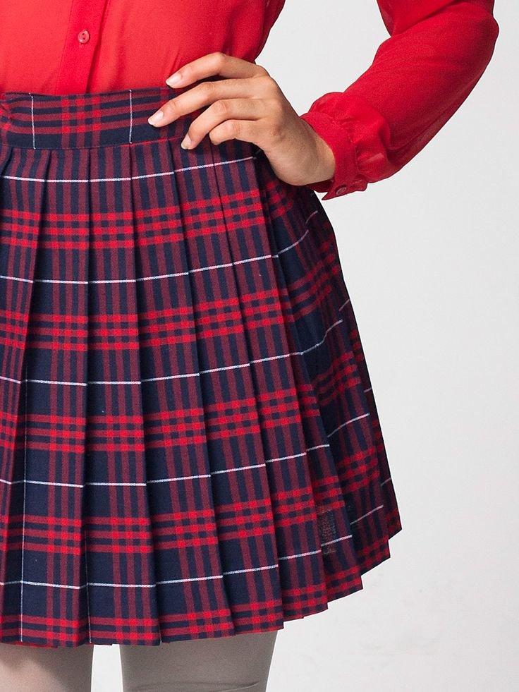 Клетчатая юбка в картинках