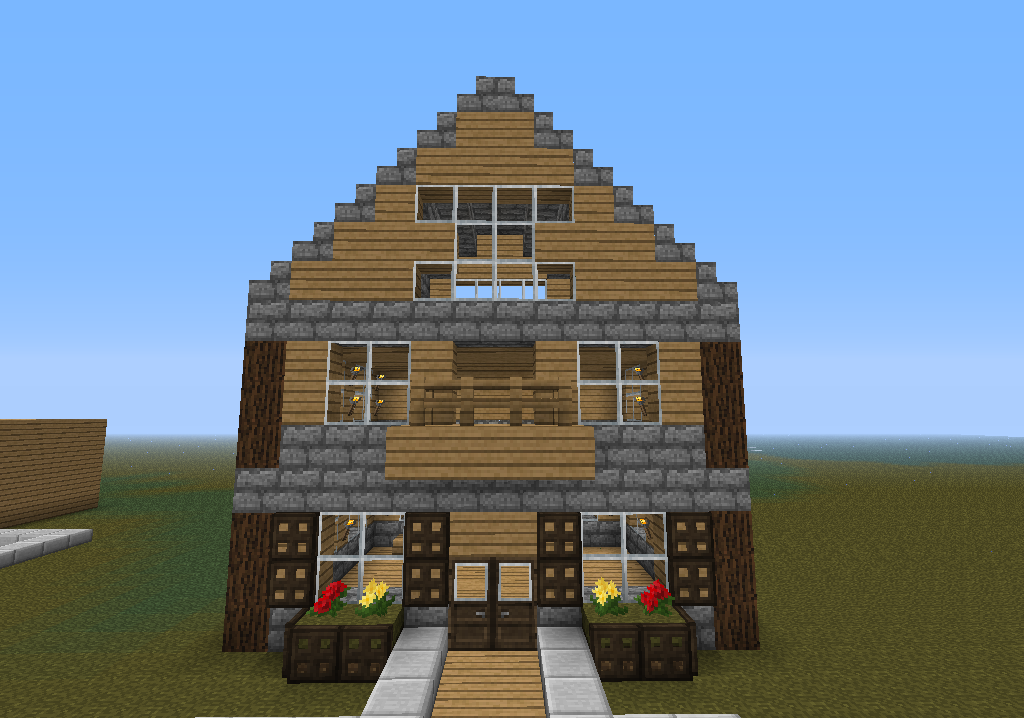 Какой можно построить в майнкрафте дом на андроиде