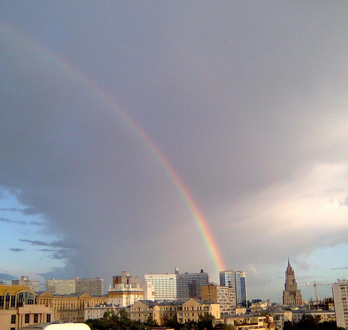 время брачного картинки радуга над городом время когда краска