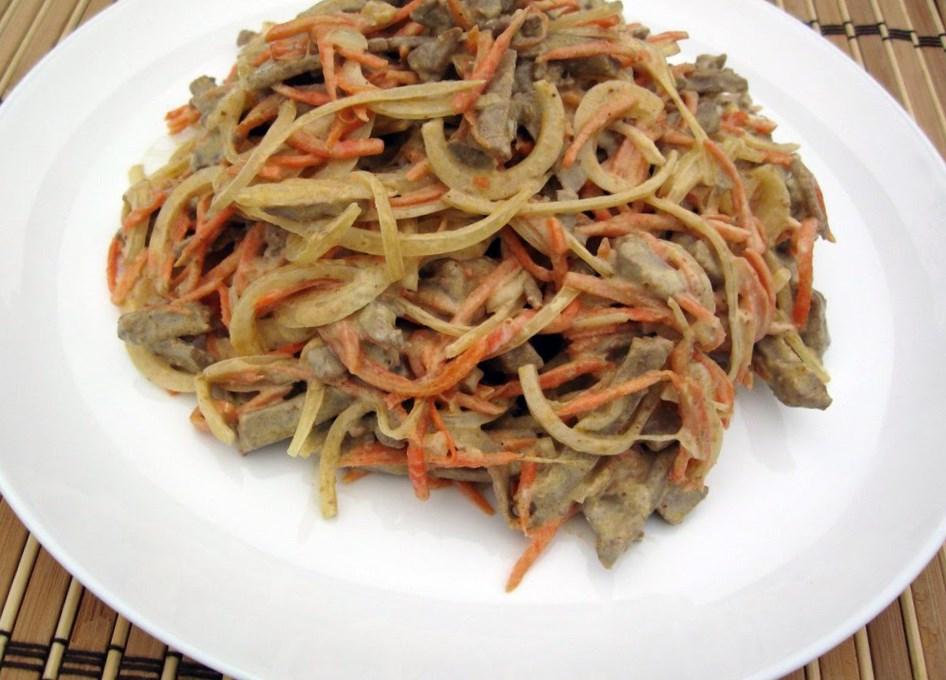 Салат из печени свиной и морковки — pic 6