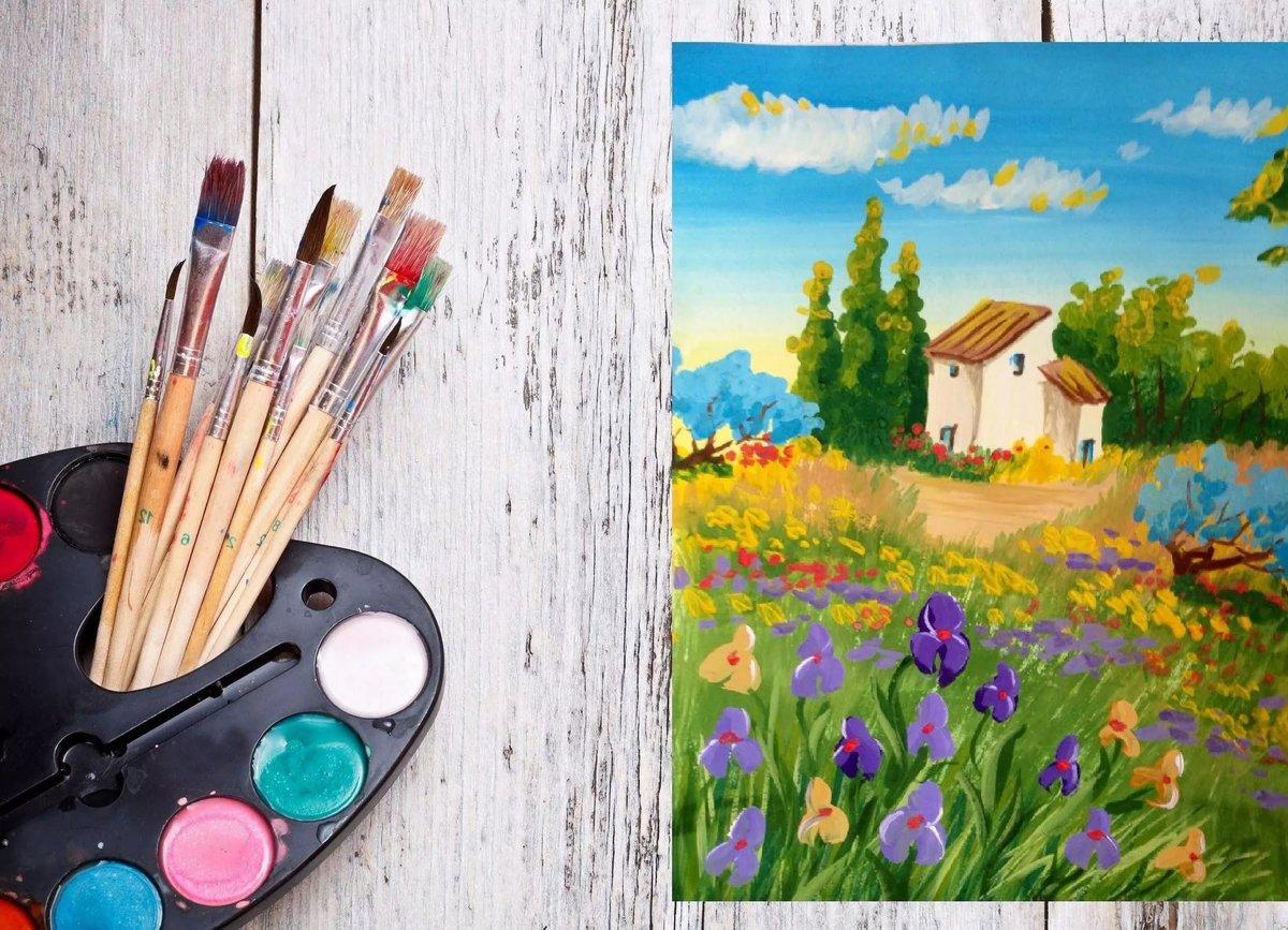Рисунки для начинающих детей красками