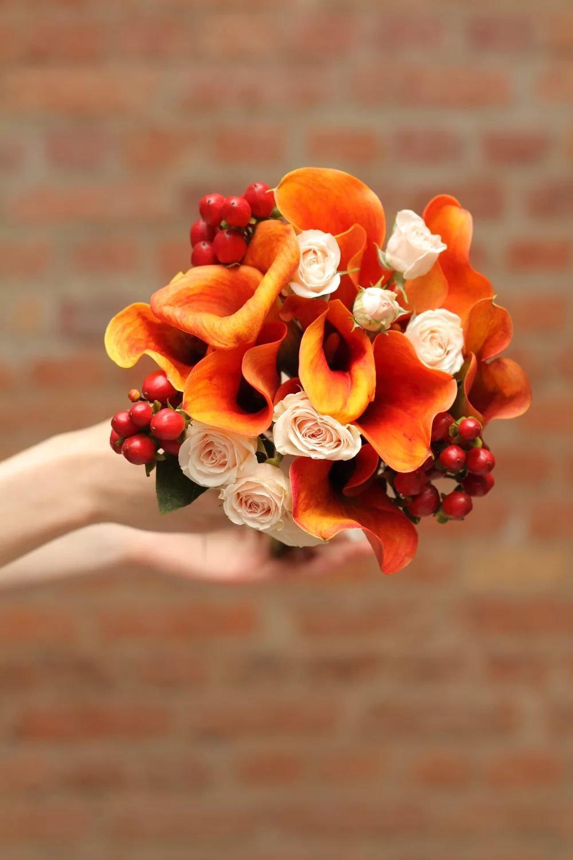 Цветы, рыжие букеты для невесты фото 2016