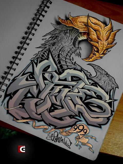 Картинки, прикольные рисунки граффити в тетради