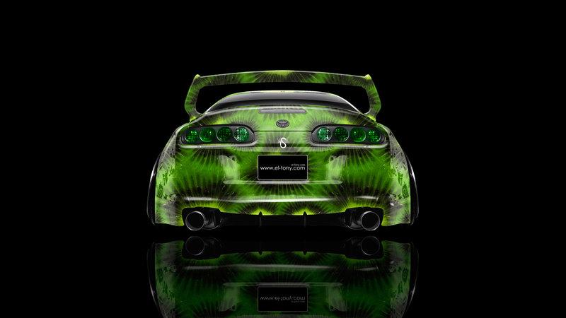 Toyota Supra JDM Back Kiwi Aerography Car 2014