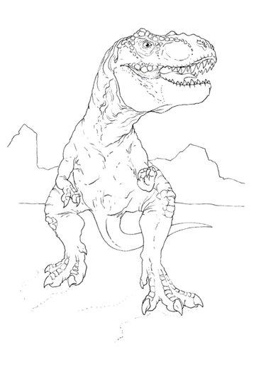 Jurassic Park Tyrannosaurus Rex Coloring Pages