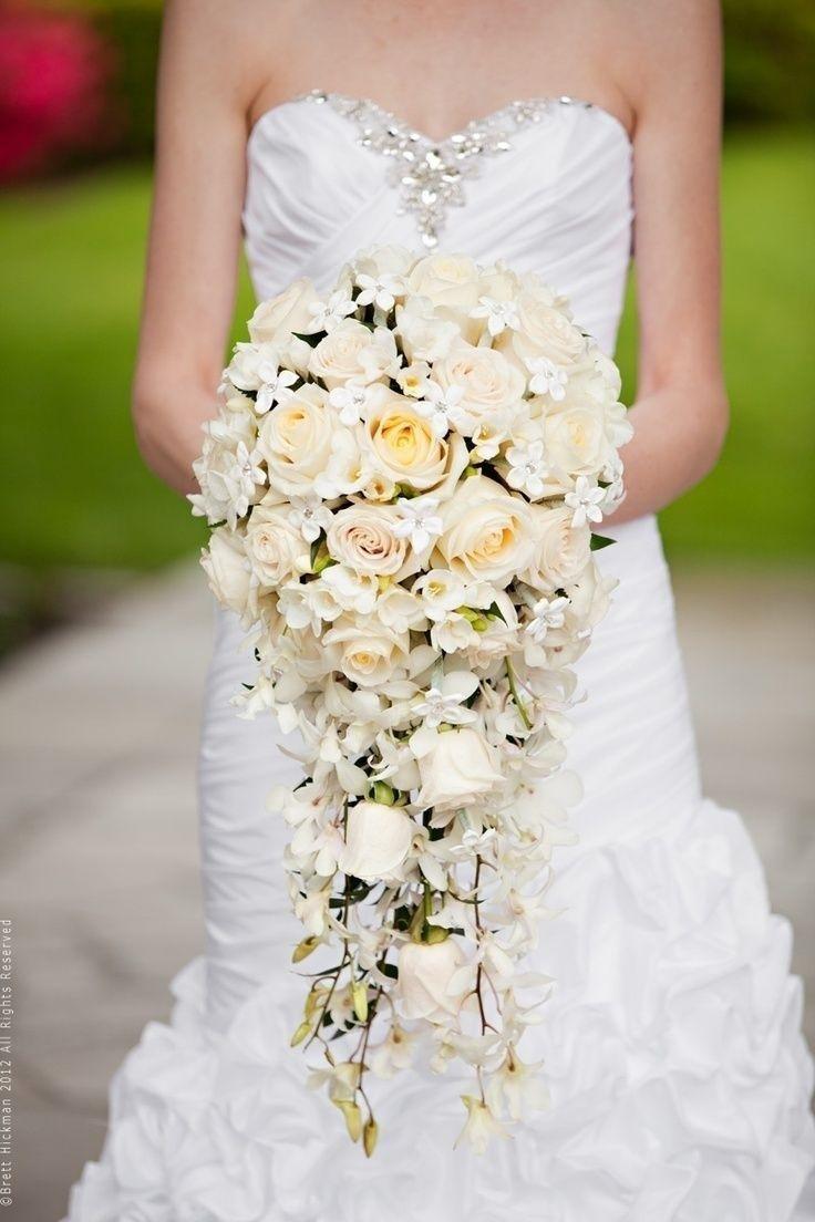 Пышный свадебный букет, цветов