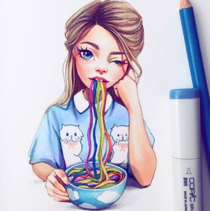 Девчачьи картинки для срисовки, картинки смешно классные