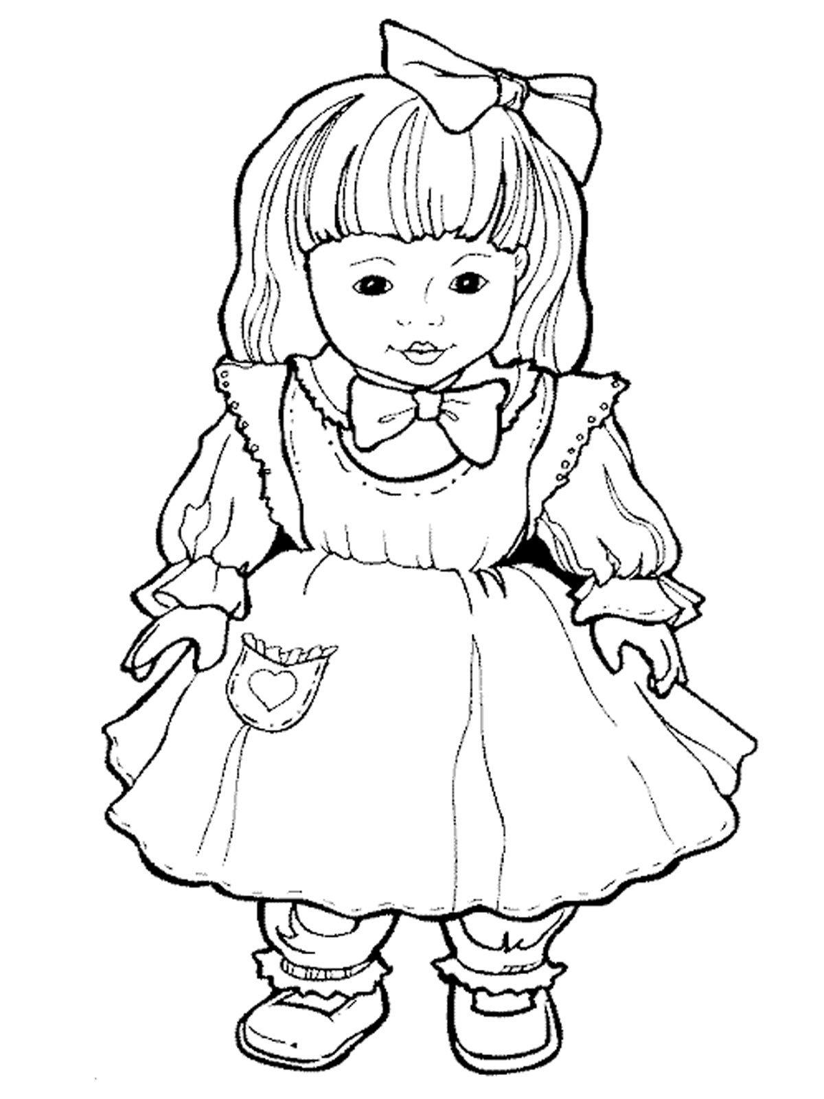 Девочка картинка чб для детей