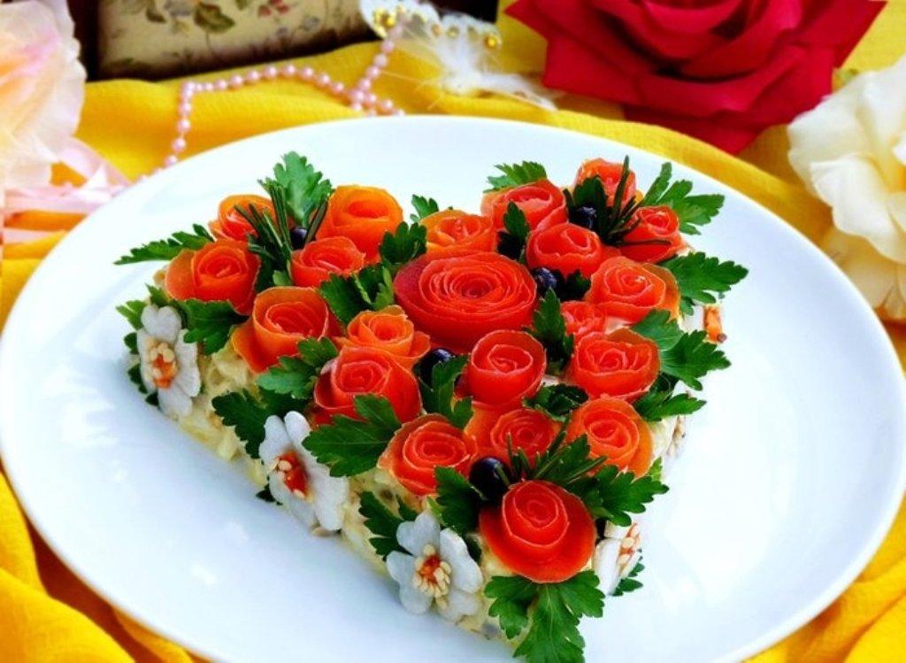 этого существовала рецепты красиво украшенных салатов с фото очень популярное