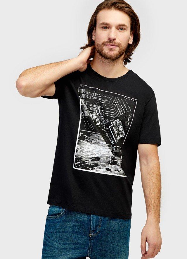 футболка с фото принтом