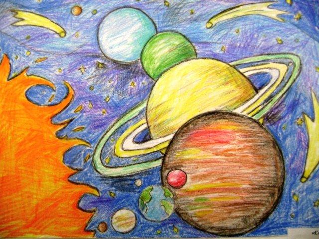 Рисунки космоса и планет