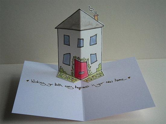 Для, как сделать открытку домик